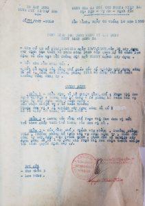 Quyết định số 231/TCT-TCLĐ ngày 02/10/1990 bổ nhiệm đồng chí Phạm Thị Hoa giữ chức vụ Kế toán trưởng